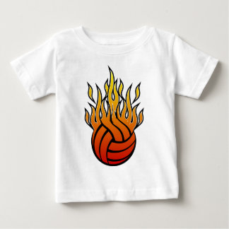 Flaming Volleyball Baby T-Shirt
