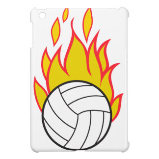 Flaming Volleyball Case For The iPad Mini