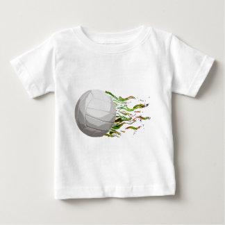 Flaming Volleyball Net Jump Bump Set Spike Baby T-Shirt