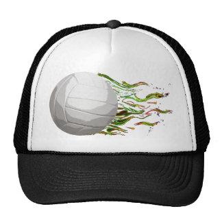 Flaming Volleyball Net Jump Bump Set Spike Hats