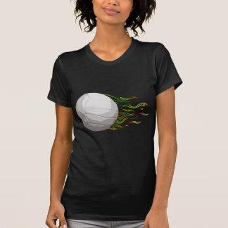 Flaming Volleyball Net Jump Bump Set Spike T-Shirt