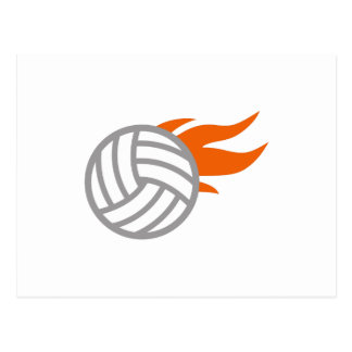 FLAMING VOLLEYBALL POST CARD