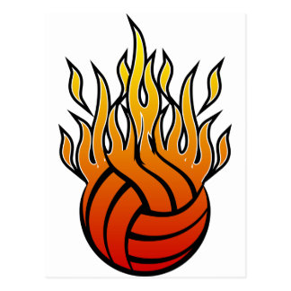 Flaming Volleyball Postcard