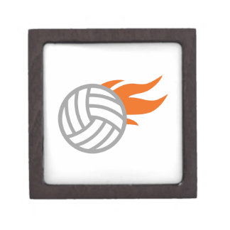 FLAMING VOLLEYBALL PREMIUM JEWELRY BOXES
