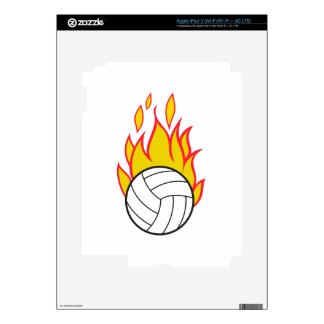 Flaming Volleyball Skins For iPad 3