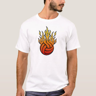 Flaming Volleyball T-Shirt