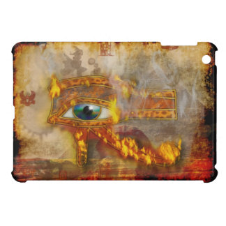 Flaming Wadjet, Eye of Horus Sacred Egyptian Art Cover For The iPad Mini