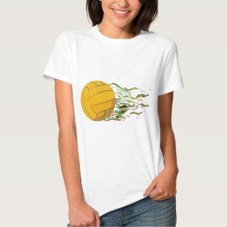Flaming Waterpolo Ball US Olympics Swimming Fish T Shirt