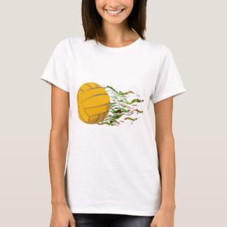Flaming Waterpolo Ball US Olympics Swimming Fish T-Shirt