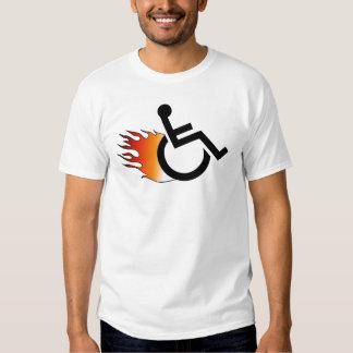 Flaming Wheelchair Tshirt