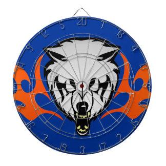 Flaming Wolf Dart Board