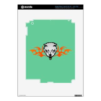 Flaming Wolf iPad 3 Skin