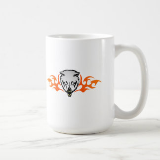 Flaming Wolf Classic White Coffee Mug