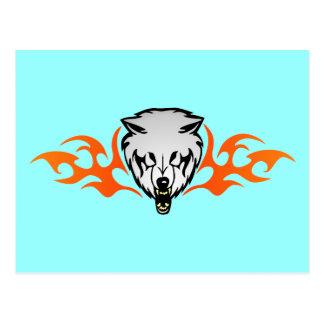 Flaming Wolf Postcard