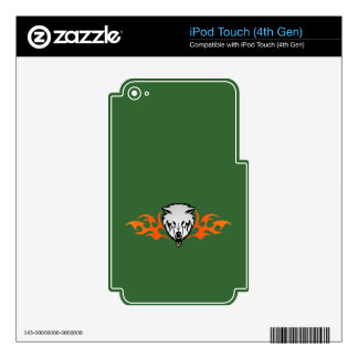 Flaming Wolf Decals For iPod Touch 4G