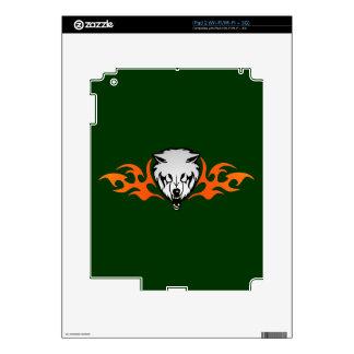 Flaming Wolf iPad 2 Skins