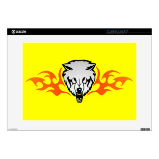 """Flaming Wolf Skin For 15"""" Laptop"""
