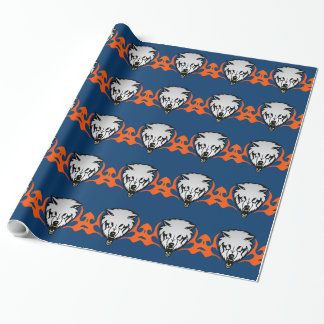 Flaming Wolf Wrapping Paper