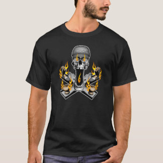 Flaming Woodworker Skull T-Shirt
