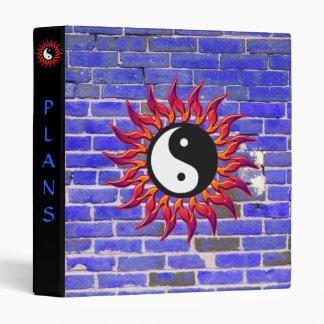 Flaming Yin Yang Sun and Brick Customizable Binder