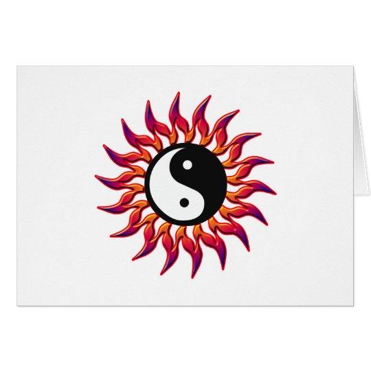Flaming Yin Yang Sun Card