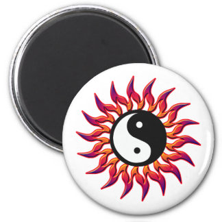 Flaming Yin Yang Sun Refrigerator Magnets
