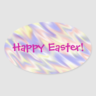 Flamingblue Easter Oval Sticker