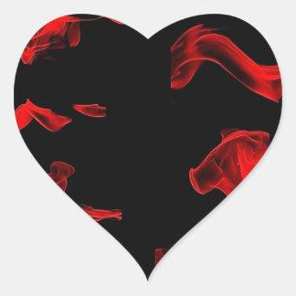 flamingbrushies heart sticker