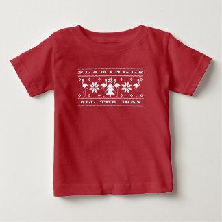 Flamingle All The Way Baby Ugly Christmas Shirt