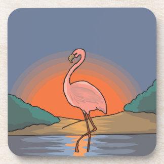 flamingo #14 coaster