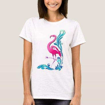 Beach Themed Flamingo 1 T-Shirt