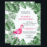 "Flamingo 21st Birthday party Invitation<br><div class=""desc"">Flamingo Tropical 21st Birthday party Invitations were created with something simple in mind not too busy yet cute and stylish. watercolor flamingo is just perfect for this one.</div>"