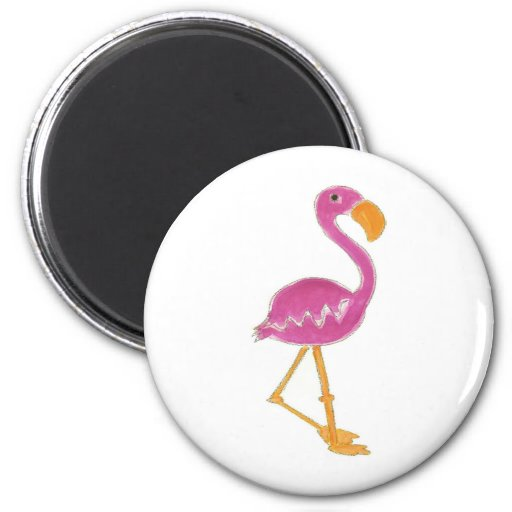 Flamingo 2 Inch Round Magnet