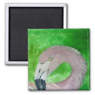 flamingo 2 inch square magnet
