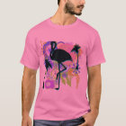 Flamingo Abstract Silhouette T-Shirt