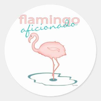 Flamingo Aficionado Classic Round Sticker