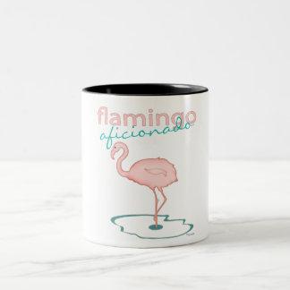 Flamingo Aficionado Two-Tone Coffee Mug
