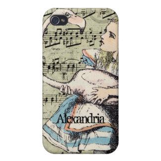 Flamingo Alice in Wonderland iPhone Case Case For iPhone 4