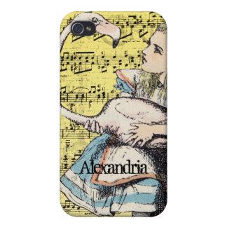 Flamingo Alice in Wonderland iPhone Case iPhone 4/4S Cover