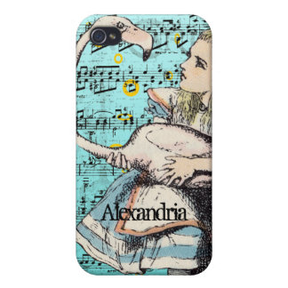 Flamingo Alice in Wonderland iPhone Case iPhone 4 Case