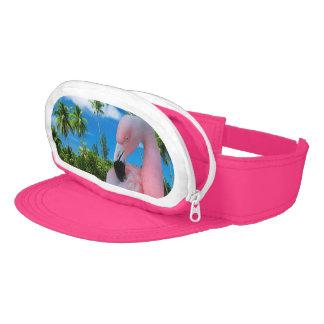 Flamingo and Beach Visor