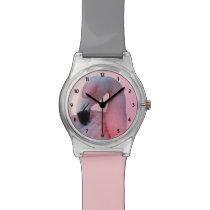 Flamingo and Beach Wristwatch