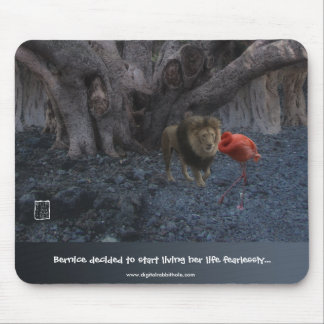 Flamingo and Lion Mouse Pad