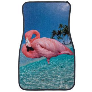 Flamingo and Palms Car Mat