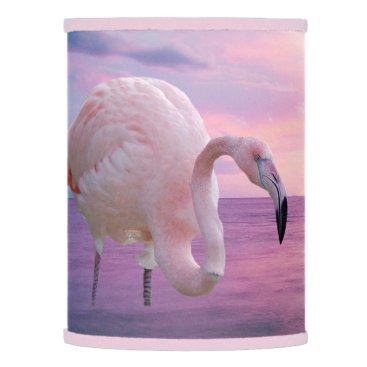 Beach Themed Flamingo and Pink Sky Lamp Shade