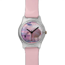 Flamingo and Pink Sky Watch