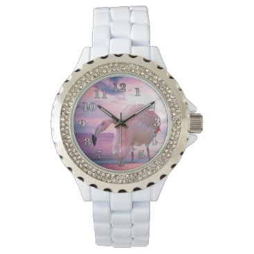 Beach Themed Flamingo and Pink Sky Watches