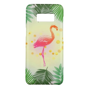 Beach Themed Flamingo and Tropical Leaves * Summer Time Madness Case-Mate Samsung Galaxy S8 Case