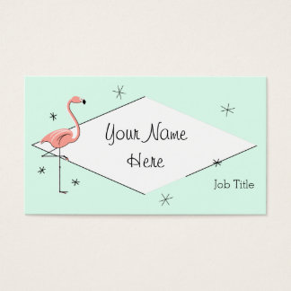 Flamingo Aqua diamond business card