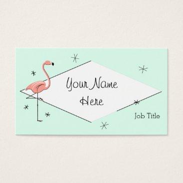 Professional Business Flamingo Aqua diamond business card